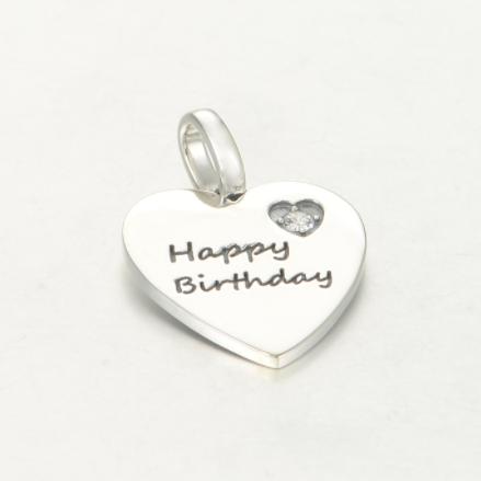 Pandantiv Happy Birthday din argint 1