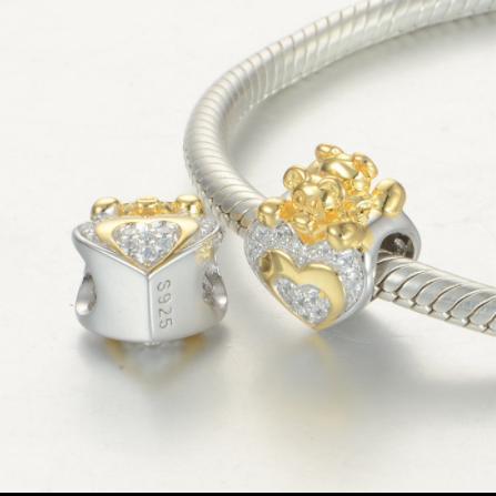 Pandantiv Heart&Bear din argint 3