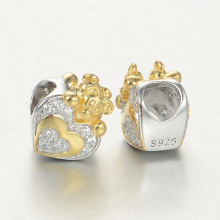 Pandantiv Heart&Bear din argint 2