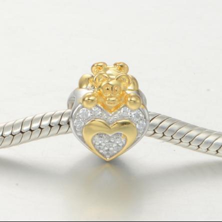 Pandantiv Heart&Bear din argint 1