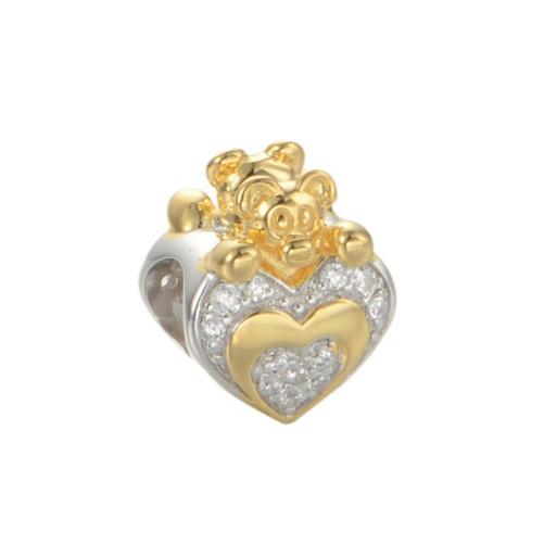 Pandantiv Heart&Bear din argint 0