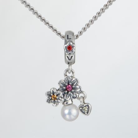 Pandantiv Love&Flowers din argint 1