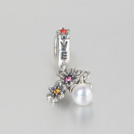 Pandantiv Love&Flowers din argint 4