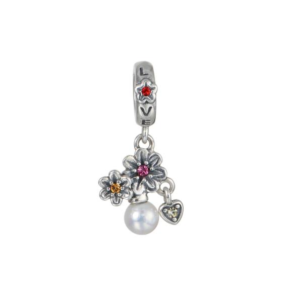 Pandantiv Love&Flowers din argint 0