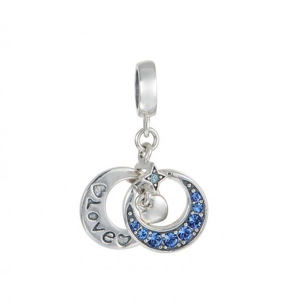Pandantiv Luna si stea - Love din argint [0]