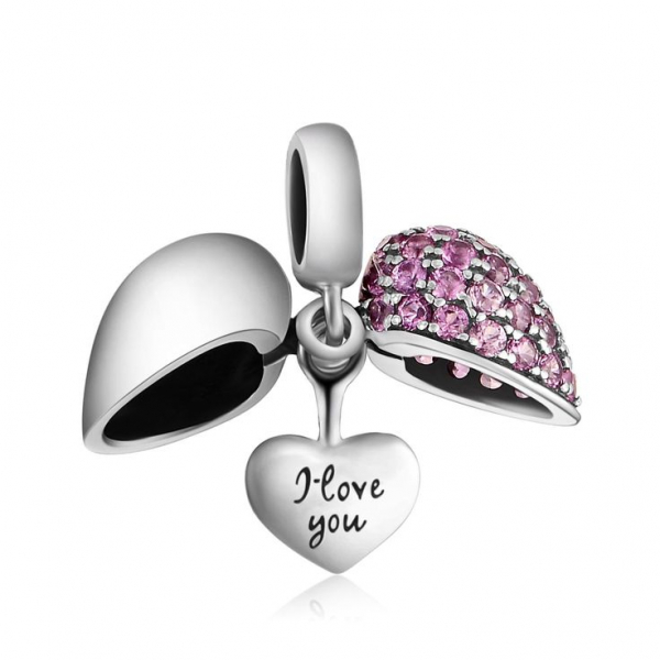 Pandantiv Mauve Heart din argint 1