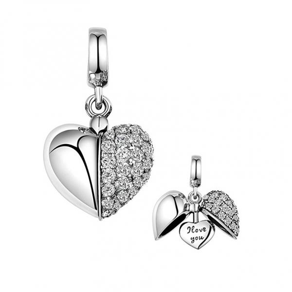 Pandantiv Shiny Heart din argint 0