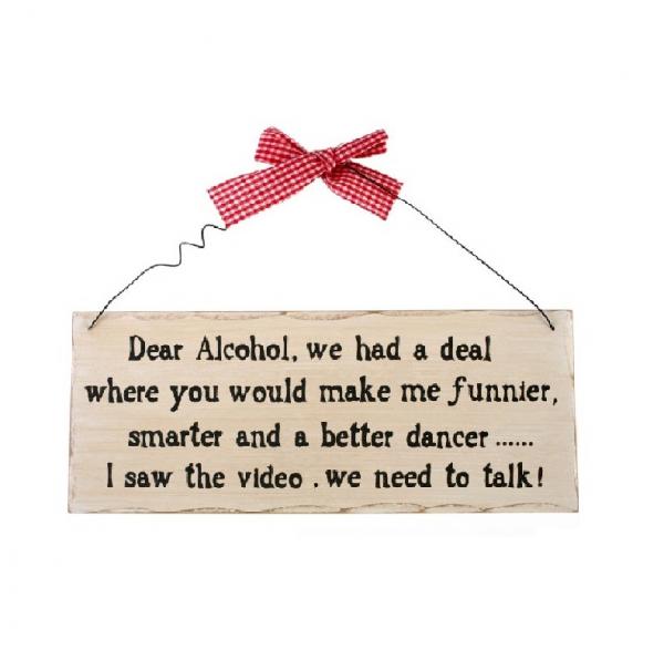 Placuta decorativa Dear Alcohol 0