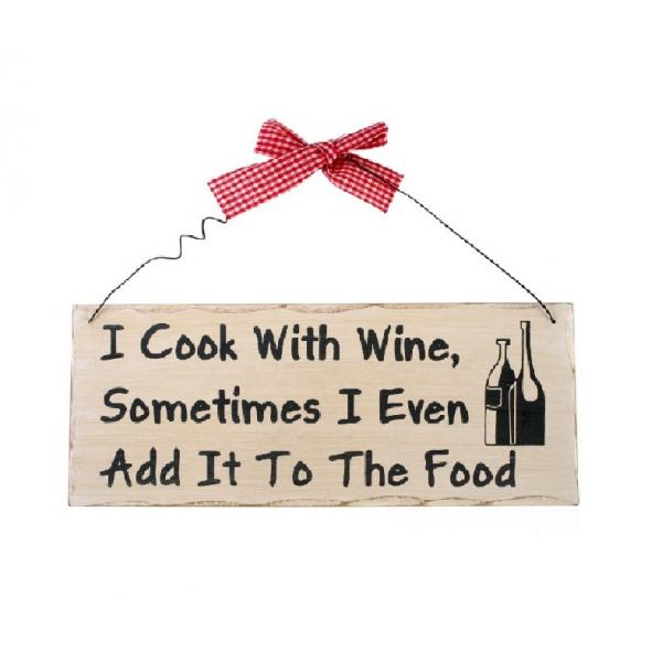 Placuta decorativa I cook with wine 0