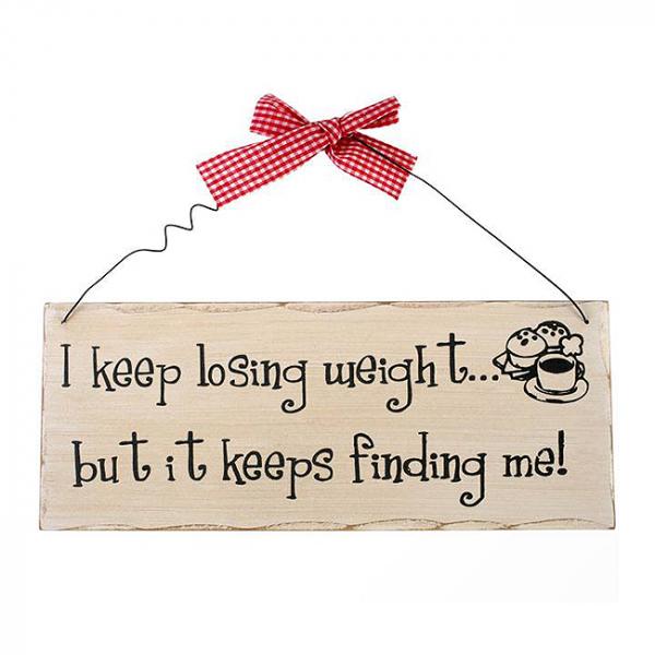 Placuta decorativa Keep losing weight 0