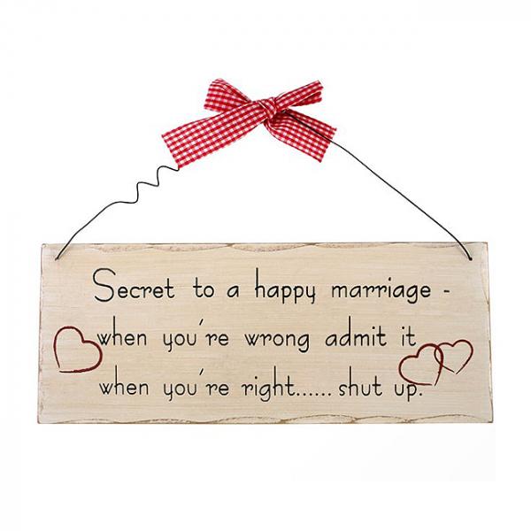 Placuta decorativa Secretul Casatoriei [0]