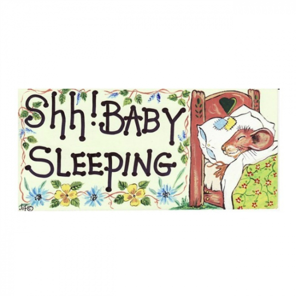 Placuta decorativa SSH! Baby sleeping 0