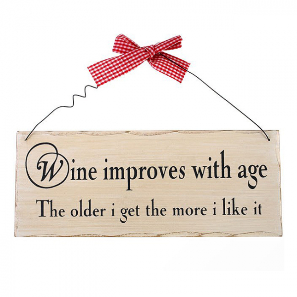 Placuta decorativa Wine improves with age 0