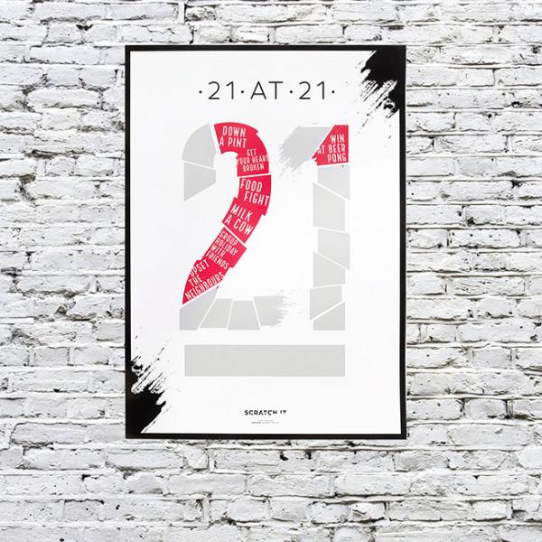 Poster razuibil 21 de lucruri de facut la 21 0