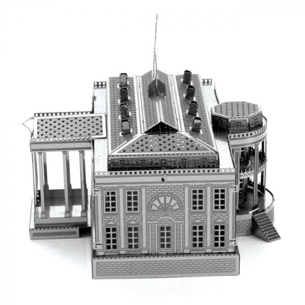 Puzzle metalic nano 3D - Casa Alba [2]
