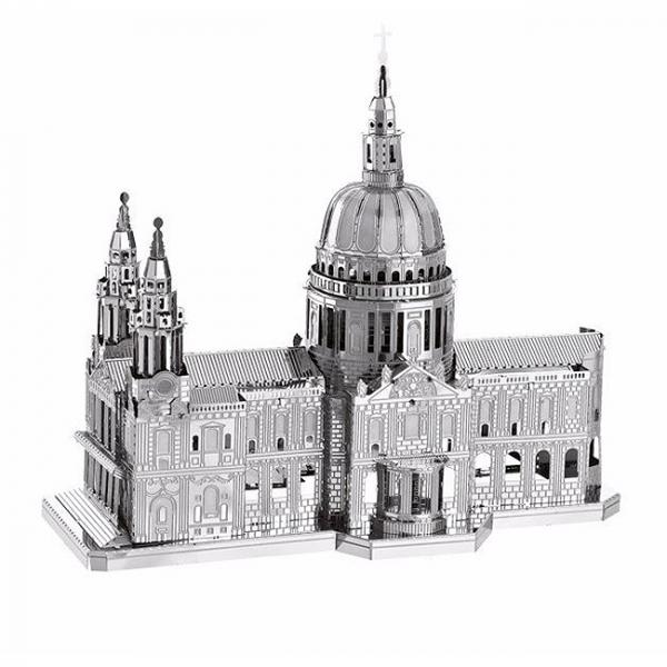 Puzzle metalic nano 3D - Catedrala St Paul 0
