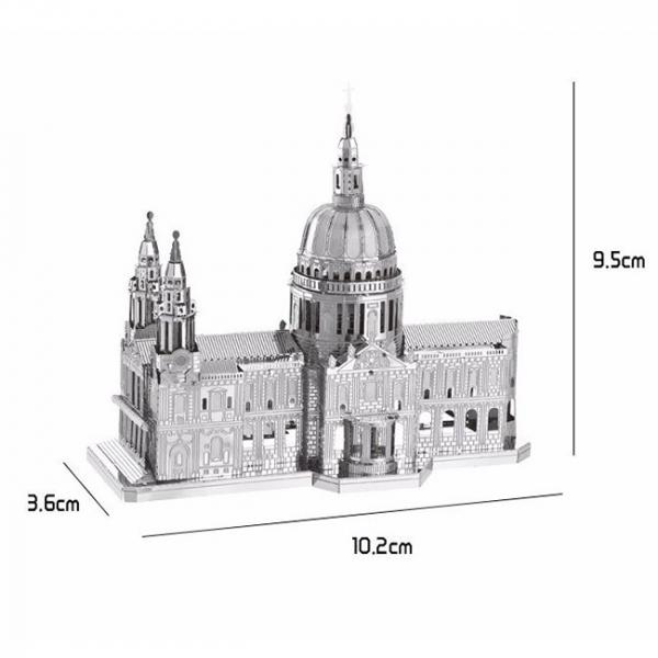 Puzzle metalic nano 3D - Catedrala St Paul 2