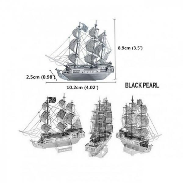 Puzzle metalic nano 3D  – Corabia Black Pearl 2