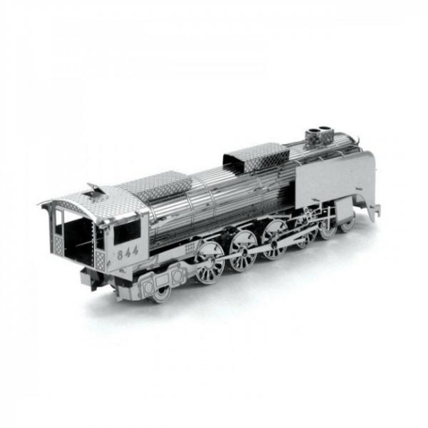 Puzzle metalic nano  3D – locomotiva cu abur 0