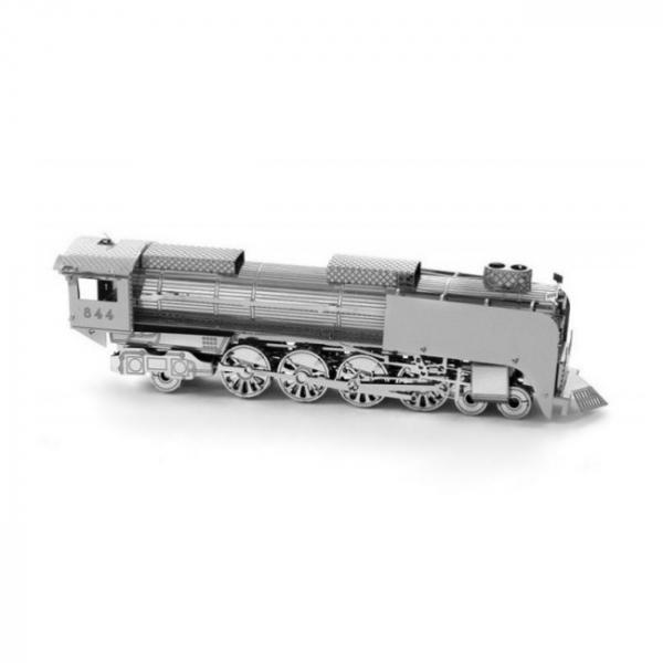 Puzzle metalic nano  3D – locomotiva cu abur 2