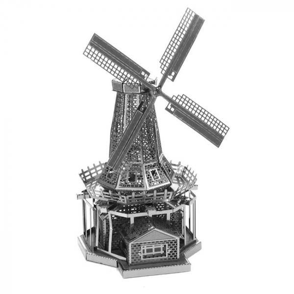 Puzzle metalic nano 3D - Moara de vant 0