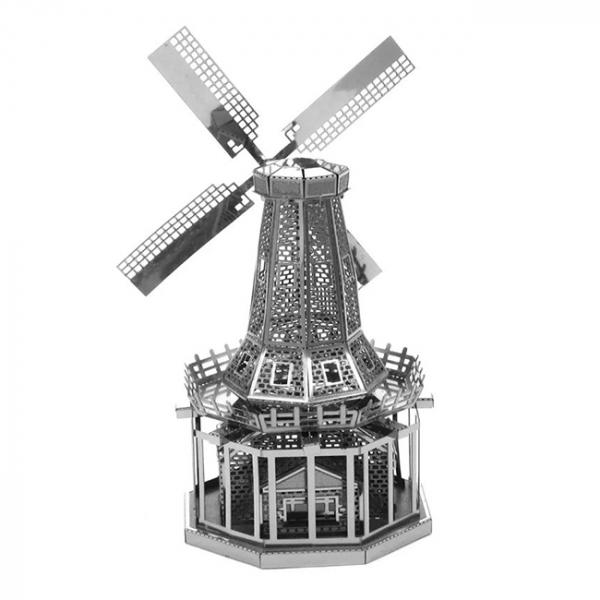 Puzzle metalic nano 3D - Moara de vant 1