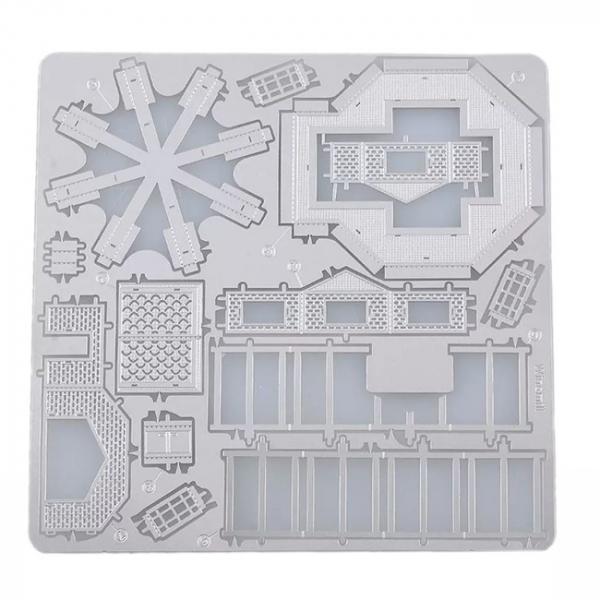 Puzzle metalic nano 3D - Moara de vant 3