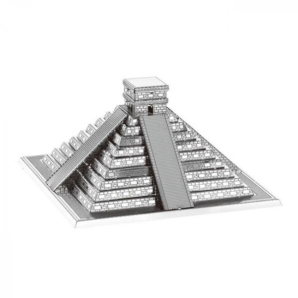 Puzzle metalic nano 3D - Piramida Maya 0