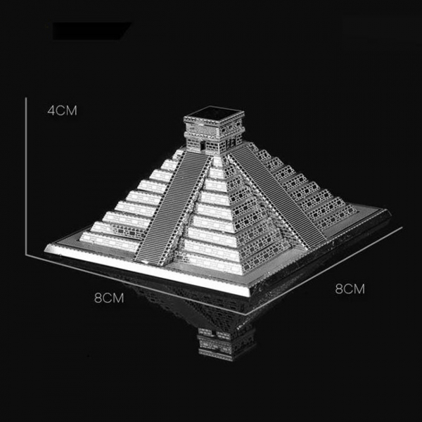 Puzzle metalic nano 3D - Piramida Maya 2