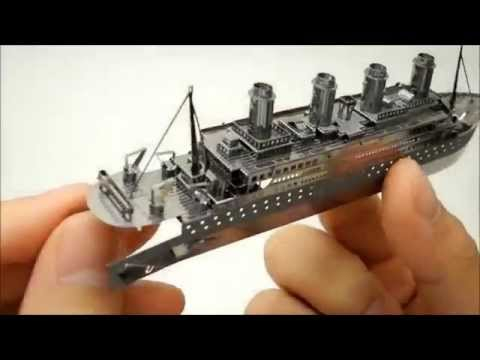 Puzzle metalic nano 3D - Titanic 2
