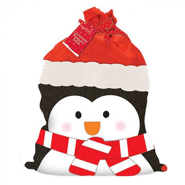 Sac cadouri Craciun Pinguin 73cm [0]