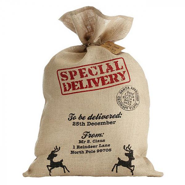 Sac cadouri Craciun Special Delivery 80cm 0