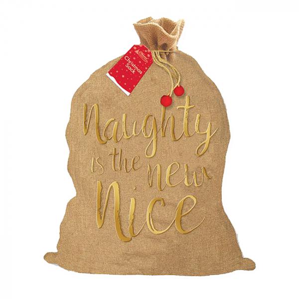 Sac pentru cadouri Naughty is the new nice 0