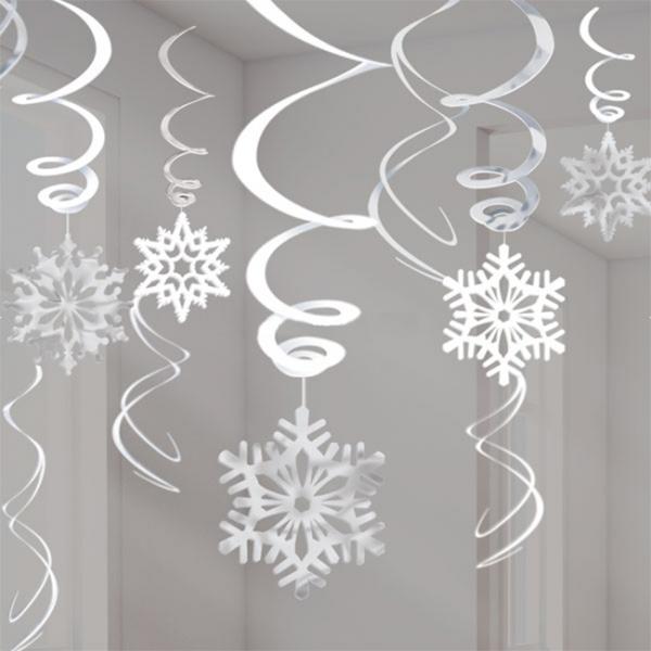 Set 12 decoratiuni Snowflake 60.9 cm 0