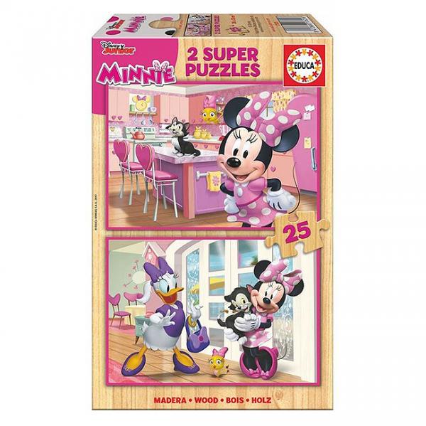 Set 2 puzzle-uri Minnie 25piese 3+ 0