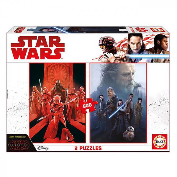 Set 2 puzzle-uri Star Wars The Last Jedi - 500piese 6+ 0