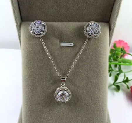 Set bijuterii Crystals din argint 0