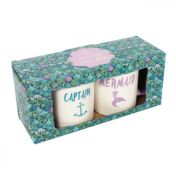 Set cadou 2 cani ceramice Captain Mermaid 2