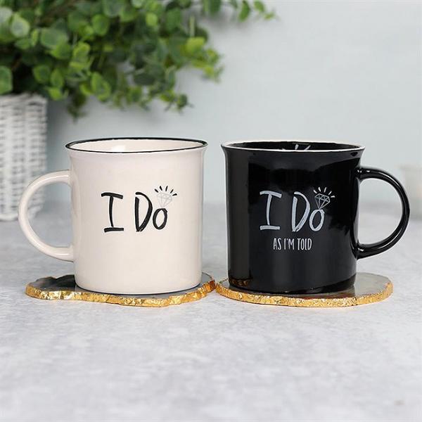 Set cadou 2 cani ceramice I do 0