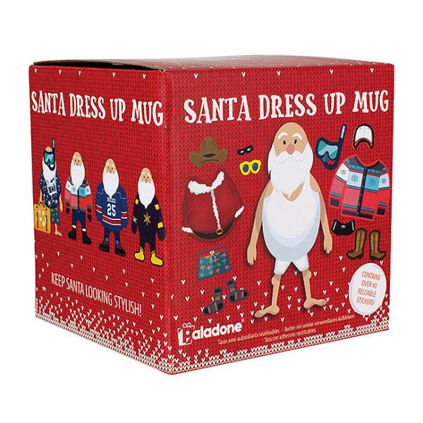 Set cana si stickere Santa Dress Up 2