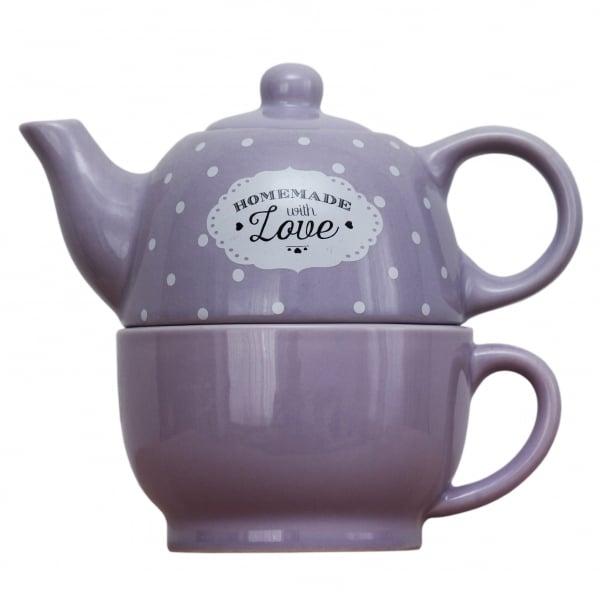 Set ceainic si ceasca Love Lavanda 0