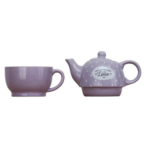 Set ceainic si ceasca Love Lavanda 1