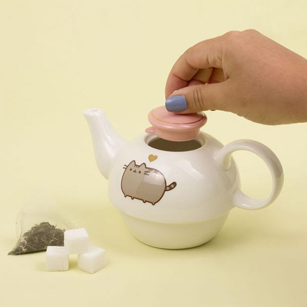 Set ceainic si ceasca Pusheen [3]