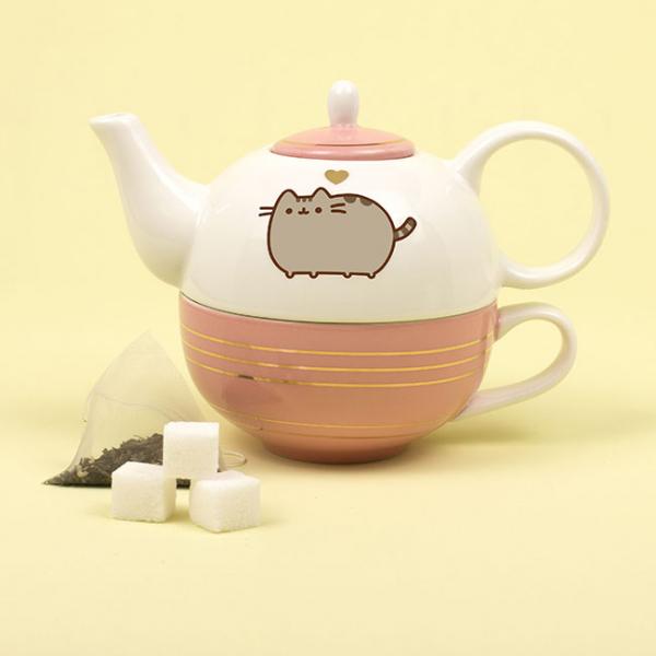 Set ceainic si ceasca Pusheen [1]