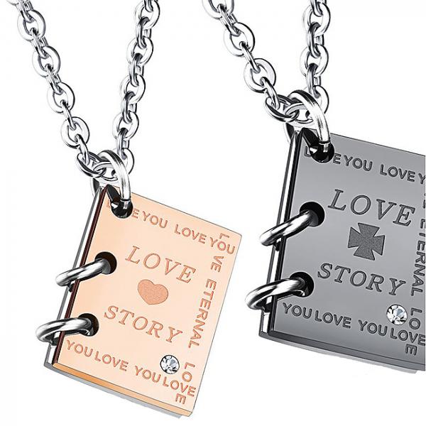 Set coliere cuplu Love Story 3