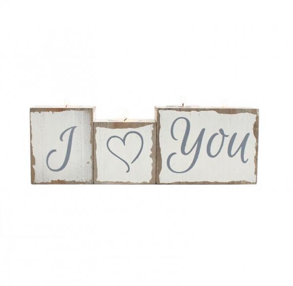 Set suporturi lumanari I love You 0