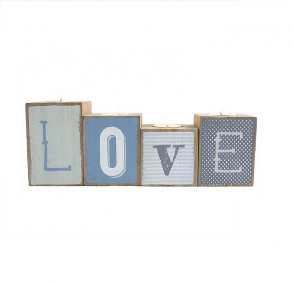 Set suporturi lumanari Love [0]