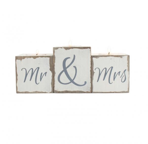 Set suporturi lumanari Mr & Mrs 0