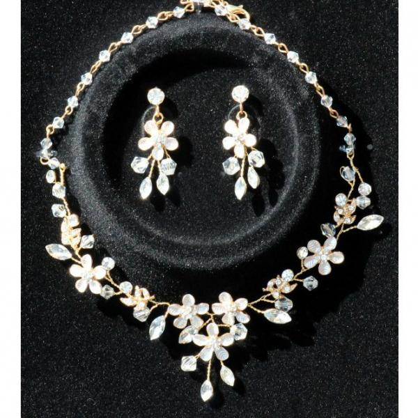 Set tiara, colier si cercei Gold Sparkle 5