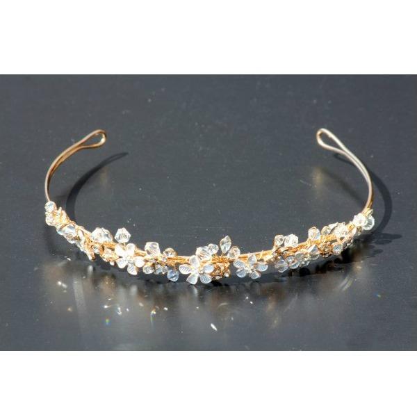 Set tiara, colier si cercei Gold Sparkle 3